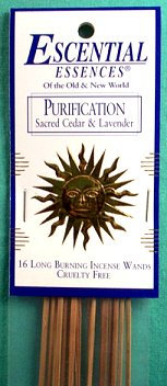 Purification escential essences incense sticks 16 pack