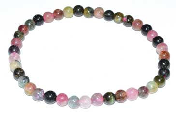 5-7mm Tourmaline, Pink Mix bracelet