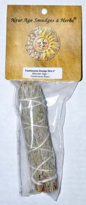 "4"" Sage & Frankincense smudge stick"