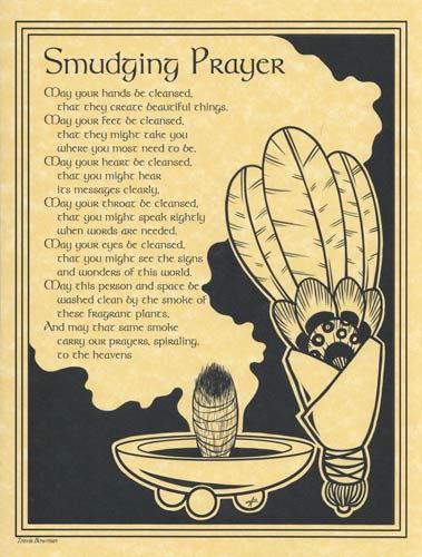 Smudging Prayer poster