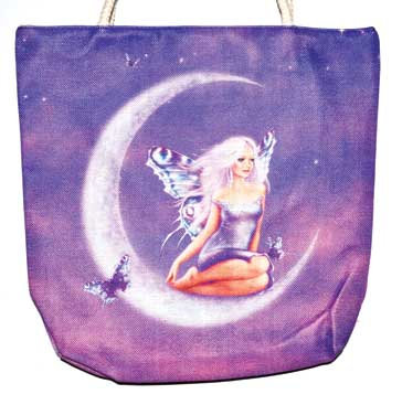 "14"" x 16"" Fairy jute tote bag"