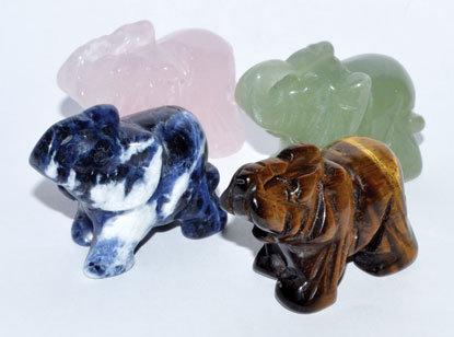 "1 1/2"" Elephant various stones"