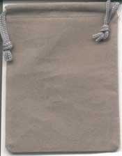 Grey Velveteen Bag