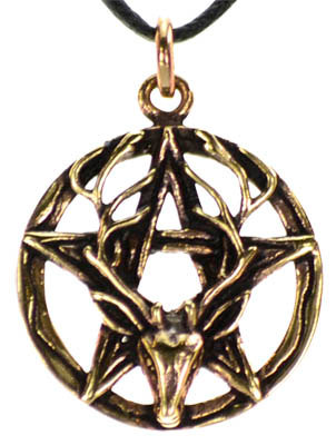 Pentagram Stag bronze