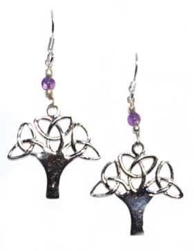 """1.25"""" tree amethyst earrings"""