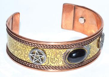 Pentagram copper magnetic bracelet