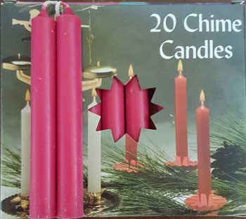 """1/2"""" Pomegranate Chime candle 20 pack"""