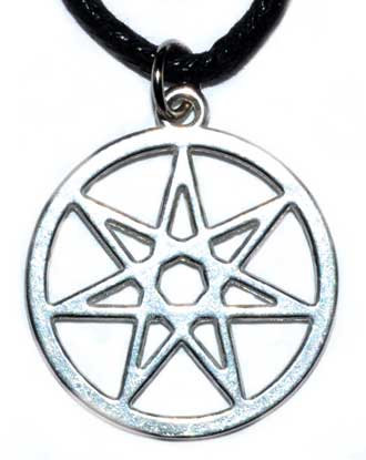 """1"""" 7 pointed Star amulet"""