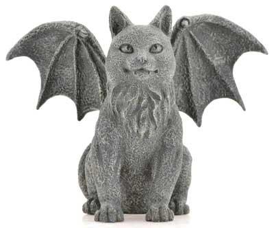 """Winged Cat Gargoyle 6 1/2"""""""