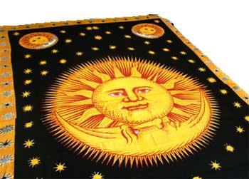 "Sun God tapestry 72"" x 108"""