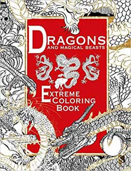 Dragons & Magical Beasts Extreme coloring book