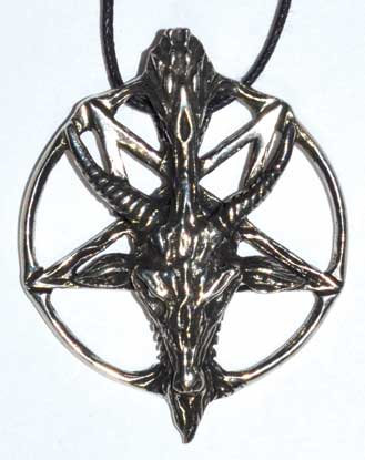 """1 1/2"""" Pentacle of the Goat pewter"""
