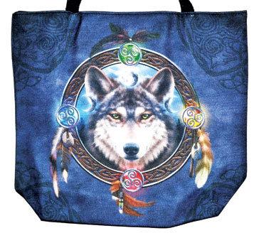 "14"" x 16"" Wolf jute tote bag"