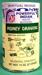 Money Drawing powder incense 1 3/4 oz