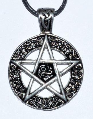 """1 1/2"""" Pentagram amulet"""