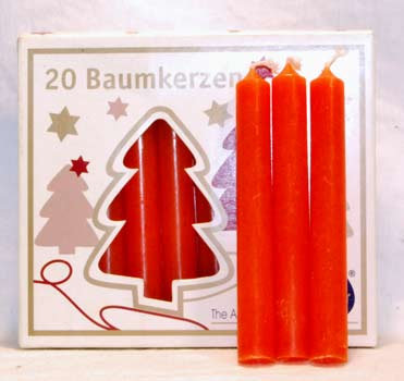 """1/2"""" Orange Chime Candle 20 pack"""
