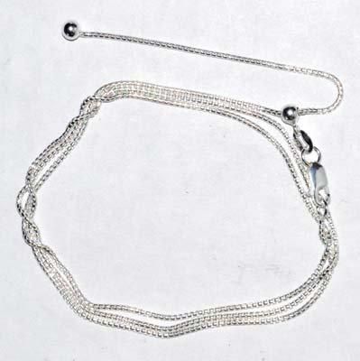 "24"" Round adjustable chain sterling"