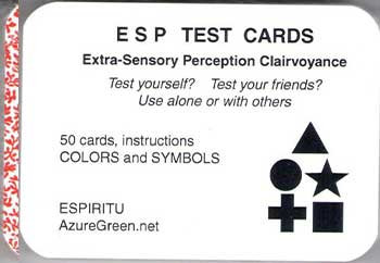 ESP Test Cards (50 Cards)