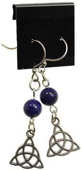Lapis Triquetra earrings