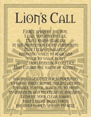 Lion Prayer poster