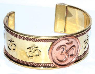 Om copper bracelet