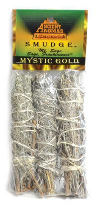 "Mystic Gold smudge stick 3pk 4"""