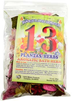 1 1/4oz 13 Herbs aromatic bath herb