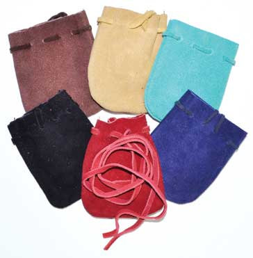 """2""""x3"""" Suede pouch (pk of 6)"""