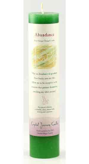 Abundance Reiki Charged Pillar Candle