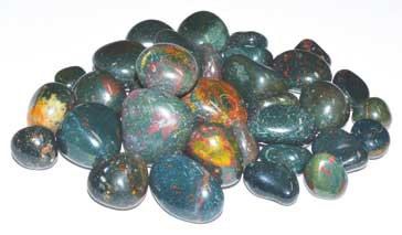 1 lb Bloodstone tumbled stones