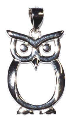"""7/8"""" Owl sterling pendant"""