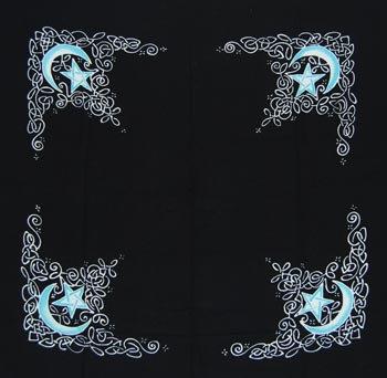 """Celtic Moon altar cloth or scarve 36"""" x 36"""""""