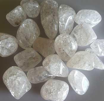 1 lb Quartz, Cracked tumbled stones