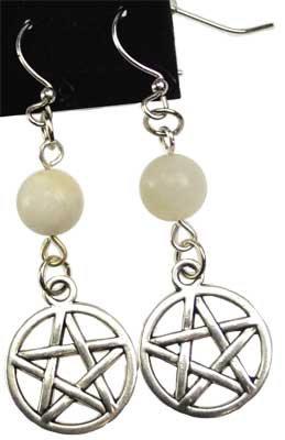 Moonstone Pentagram earrings