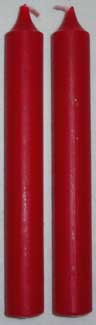 "1/2"" Red Chime Candle 20 pack"