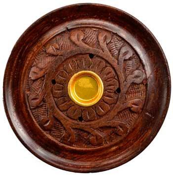 """3 3/4"""" wood carved stick/ cone Burner"""