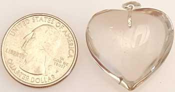 "1"" Citrine natural heart"
