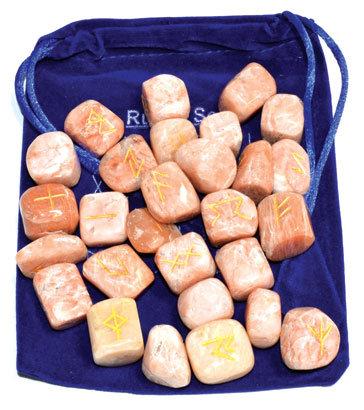 Peach Moonstone rune set