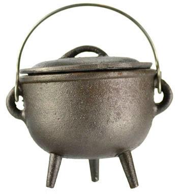 "Plain cast iron cauldron 4"""