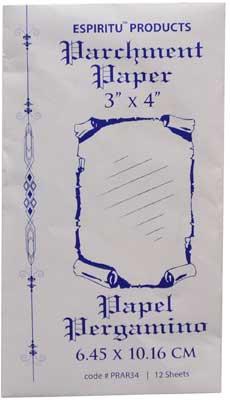 """3"""" x 4"""" Parchment Paper 12 pack"""