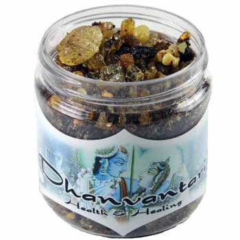 2.4oz jar Dhanvantari resin incense