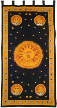 """Sun God curtain 44"""" x 88"""""""