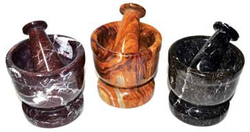 """3 3/4"""" assorted mortar and pestle set"""