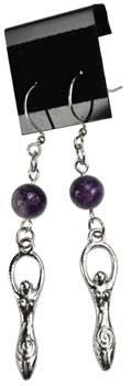 Amethyst Goddess earrings