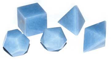 20mm Angelite platonic solids