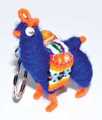 Hope Llama key ring