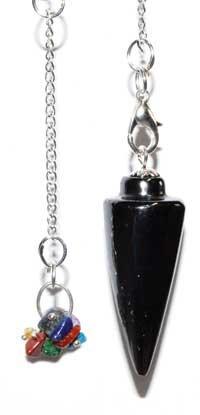 Hematite 7 Chakra pendulum