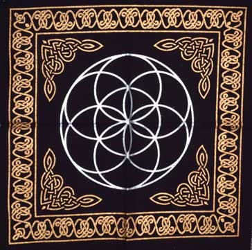 "18""x18"" Seed of Life altar cloth"