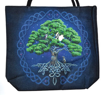 "14"" x 16"" Tree of Life jute tote bag"