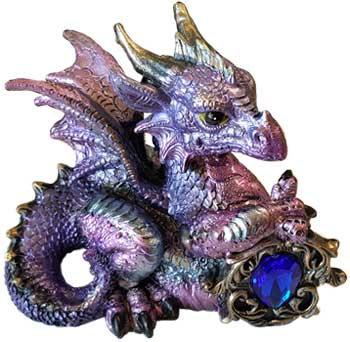 "Pink/Purple Dragon w/ Stone 4"""